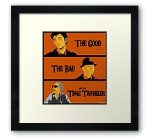 The good, The Bad and the Time Traveler Framed Print