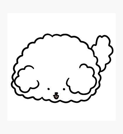 Fluffy Dog Blob Photographic Print