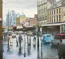 Rainy Day, Hobart, Tasmania (circa 1957) by Michael Bessell