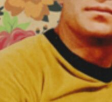 Star Trek Kirk Floral Collage Sticker