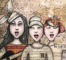 Ukelele lady by Jenny Wood