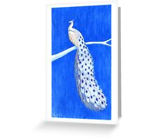 Blue Willow Peacock Greeting Card