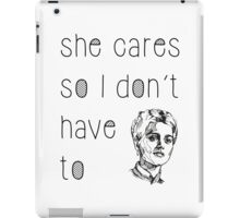 She Cares iPad Case/Skin