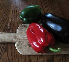 Bell Peppers and Eggplant© by walela