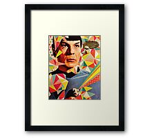Star Trek Spock Geometric Collage Framed Print