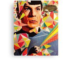 Star Trek Spock Geometric Collage Canvas Print