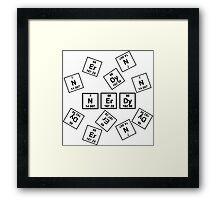 Nerdy Periodically  Framed Print