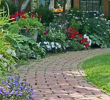 Garden Brick Walk by phil decocco