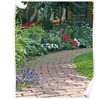 Garden Brick Walk Poster