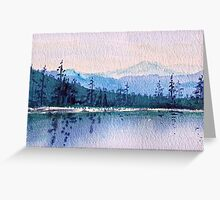 Calm Peaceful Blue Mountain Waters  Greeting Card