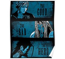 The Good the Bad and the Hero (Blue version) Poster