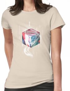 Texture Cube Womens Fitted T-Shirt