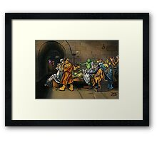 All I Know Is That I Am Green Framed Print