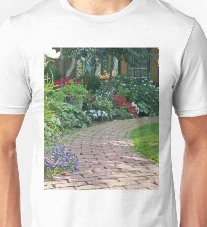 Garden Brick Walk Unisex T-Shirt