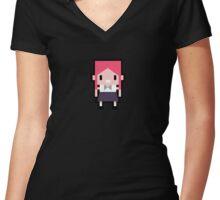 f(x) Pink Tape - Krystal Mascot Women's Fitted V-Neck T-Shirt