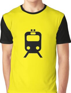 Chicago CTA Yellow Line Inspired Graphic Print Minimalism Graphic T-Shirt