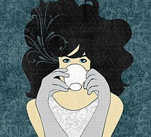 High Tea Black Hair by Janet Carlson