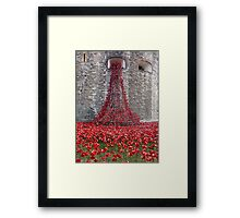 A Cascade Of Poppies At The Tower Of London Framed Print