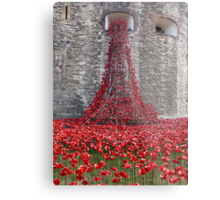 A Cascade Of Poppies At The Tower Of London Metal Print