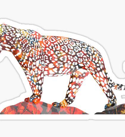 Colorful Jaguar Sticker