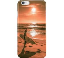 Surfer rising sun enjoying the first day of spring 2014 iPhone Case/Skin