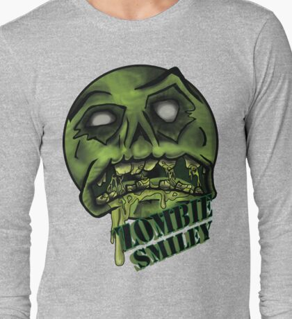 Zombie Smiley  Long Sleeve T-Shirt