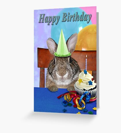 Birthday Bunny Rabbit Greeting Card