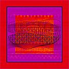 Pattern in Red and Purple by Dana Roper