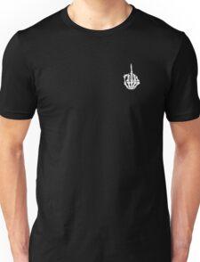Skeleton Middle Finger Unisex T-Shirt