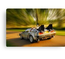 DELOREAN.... Back to the Future. Canvas Print