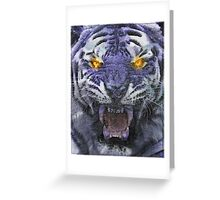 Psychedelic Tiger Poster Greeting Card