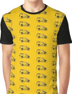 A Graphical Interpretation of the Defender 110 Hard Top Camel Trophy Graphic T-Shirt