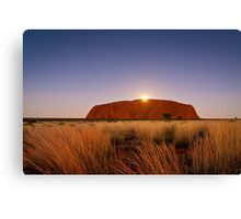 Moonrise over the Rock Canvas Print