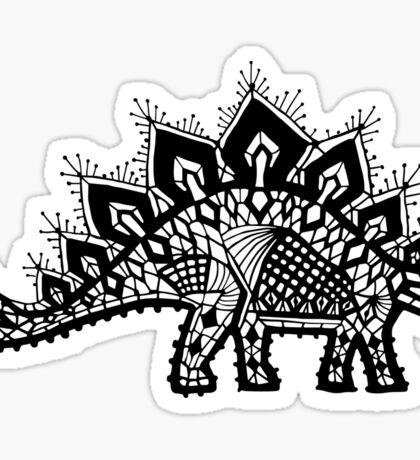 Stegosaurus Lace - Black / Grey Sticker