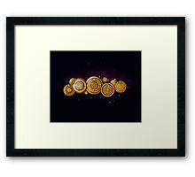 Gallifreyan Steampunk Framed Print