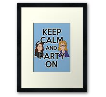 Keep Calm and Party On Framed Print