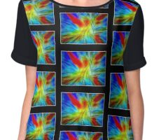 Abstract Artwork #1BB Chiffon Top