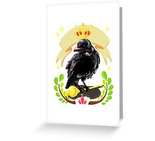Crow with Crown Greeting Card