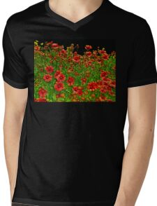 Splash of Springtime Mens V-Neck T-Shirt