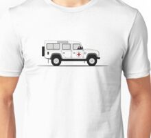 A Graphical Interpretation of the Defender 110 Station Wagon Red Cross Unisex T-Shirt