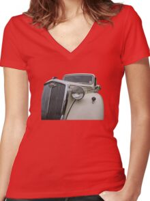 Vintage Worseley Women's Fitted V-Neck T-Shirt