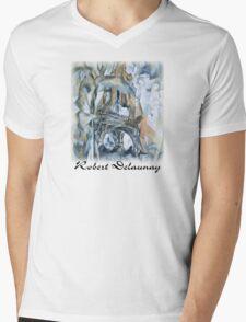 Delaunay - Eiffel Tower Mens V-Neck T-Shirt