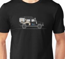 A Graphical Interpretation of the Defender 110 Station Wagon Rugby World Cup Unisex T-Shirt