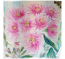 Gum Blossoms (ii) by Liz H Lovell Poster