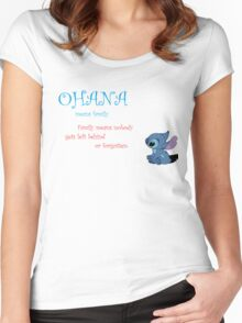 Ohana means family Women's Fitted Scoop T-Shirt