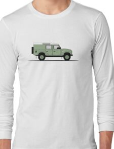 A Graphical Interpretation of the Defender 110 Utility Station Wagon Heritage Edition Long Sleeve T-Shirt