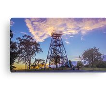 Poppet Head Lookout at Sunrise Metal Print