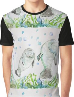 Mother Manatee and baby by Liz H Lovell Graphic T-Shirt