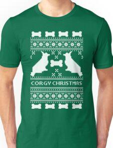 Christmas sweater - corgi christmas green Unisex T-Shirt