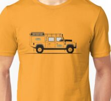 A Graphical Interpretation of the Defender 130 Double Cab High Capacity Pick Up Camel Trophy Unisex T-Shirt